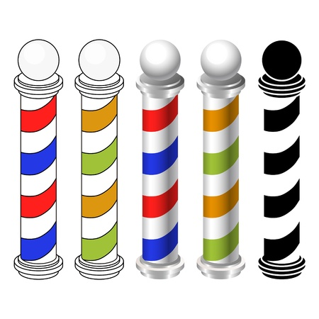 shaver: barber shop pole icons