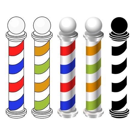 barber shop: kapperszaak pole iconen
