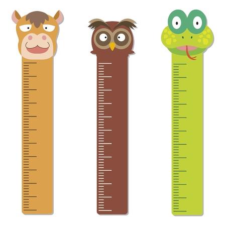 millimeters: cute bumper children meter wall  Illustration