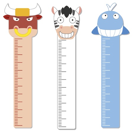 measure height: cute bumper children meter wall  Illustration