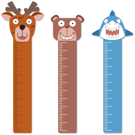 cute bumper children meter wall  Vector