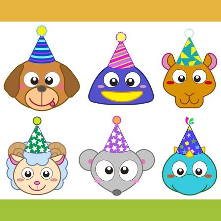 cartoon camel: cartoon party animal icons collection.