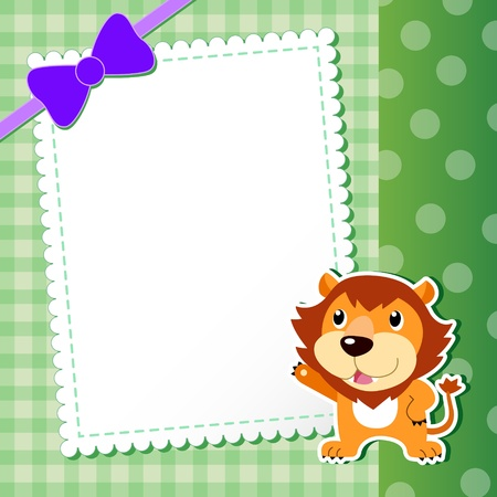 lion. baby card.  illustration Vector