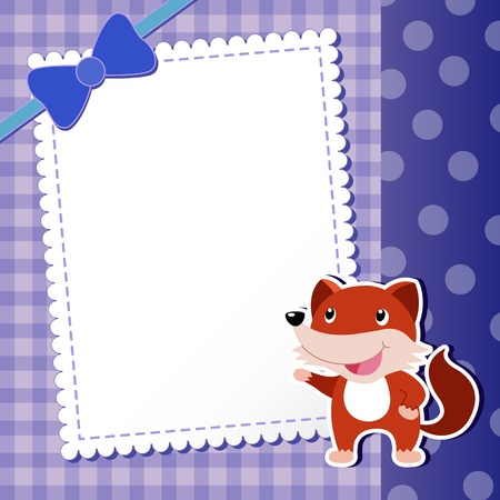 fox  baby card  illustration Vector