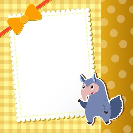 anteater: anteater  baby card  illustration