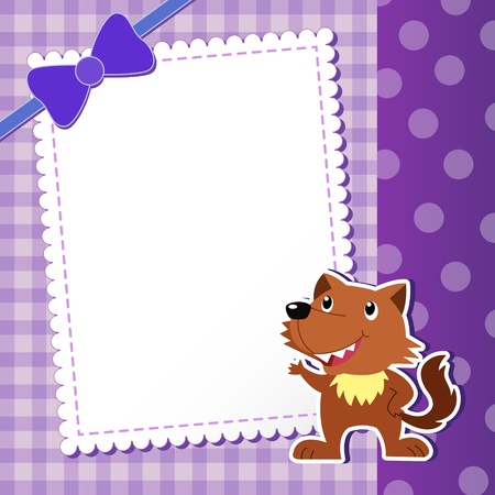 wolf  baby card  illustration Vector