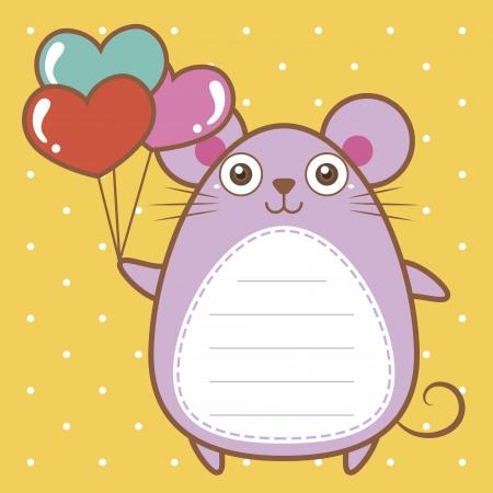cute mouse of scrapbook background. Ilustracja