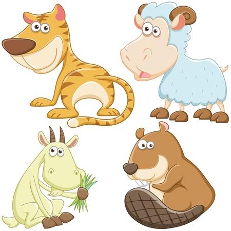 nutria caricatura: sistema lindo animal de la historieta