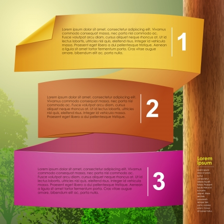 abstract 3d paper infographics. can be used for workflow layout, diagram, number options, web design.  Vector