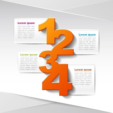 vetor para o layout de fluxo de trabalho, diagrama, op Ilustração