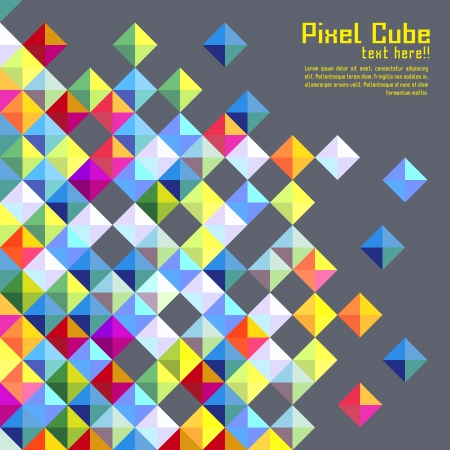abstract cubes: abstract modern pixel background. design modern template can be used for brochure, banners or website layout