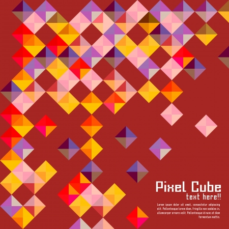 abstract modern pixel background. design modern template can be used for brochure, banners or website layout  Vector