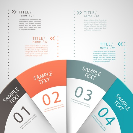 vector abstract 3d paper infographics. can be used for workflow layout, diagram, number options, web design.  일러스트