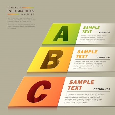 vector abstract 3d paper infographics. can be used for workflow layout, diagram, number options, web design.  Vector