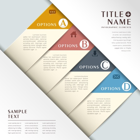 version: vector abstract 3d paper infographics. can be used for workflow layout, diagram, number options, web design.  Illustration