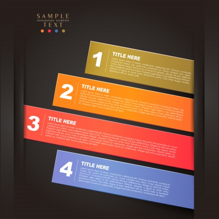 menu elements: vector abstract 3d paper infographic elements