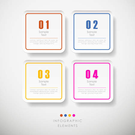 rounded rectangle: vector abstract 3d paper rounded rectangle infographic elements