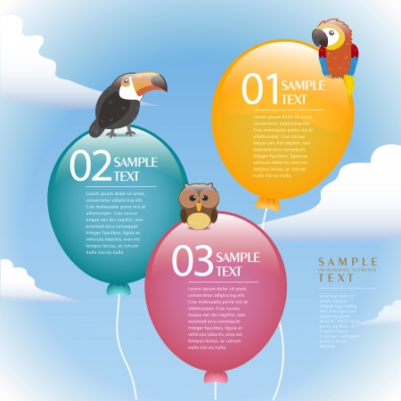 version: vector abstract balloon infographic elements