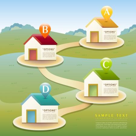 vector abstract huis infographic elementen Stock Illustratie