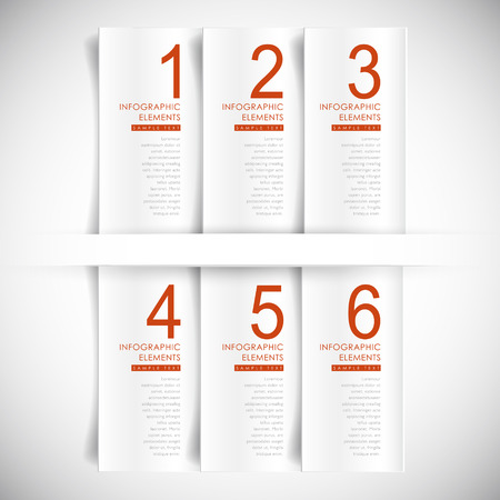 vector abstract 3d banner infographic elements Vector