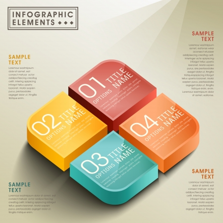 vector abstract 3d box infographic elements Stock Vector - 22199857