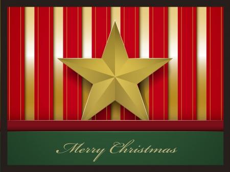 pentacle: Cartolina di Natale con pentacolo illustrazione vettoriale