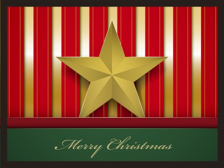 pentacle: Christmas card with pentacle vector illustration  Illustration