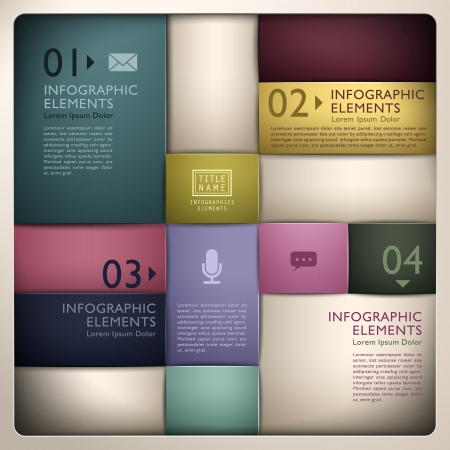 version: vector abstract 3d paper infographic elements