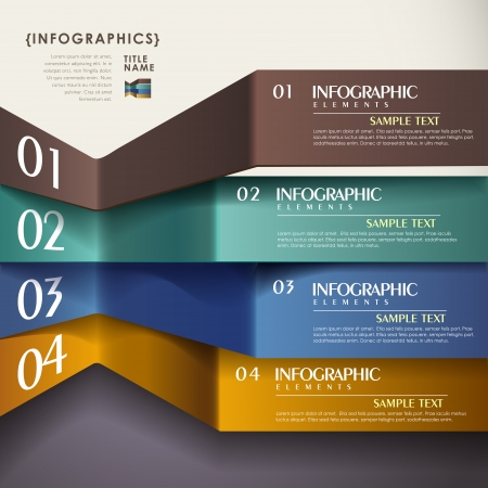 vector abstract 3d paper infographic elements Vector