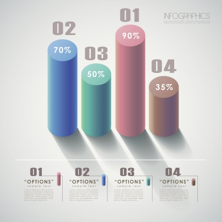 histogram: vector abstract 3d chart infographic elements Illustration