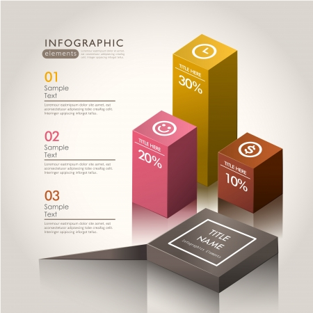 vector abstract 3d chart infographic elements 向量圖像