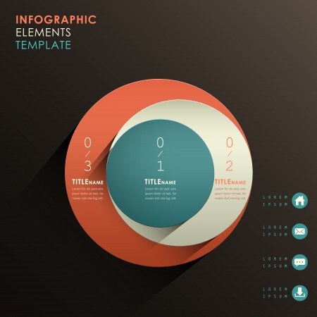 vector abstracte 3d papier infographic elementen