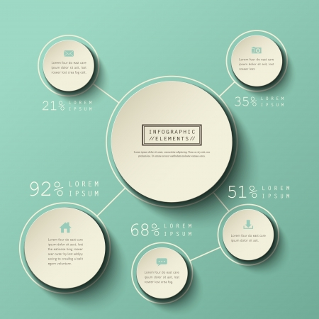 3d circle: modern vector abstract infographic elements design