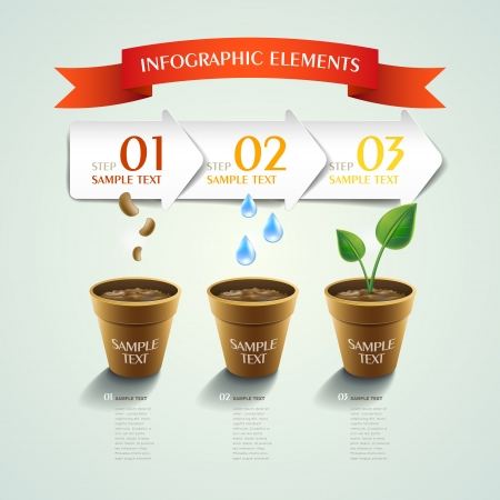 modern vector plant abstract infographic elements design Vector