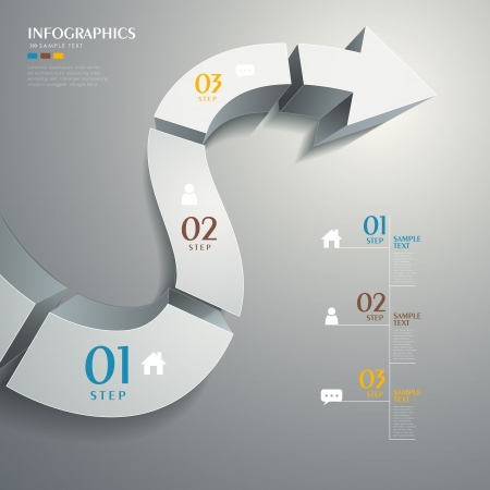 vector abstract 3d road infographic elements