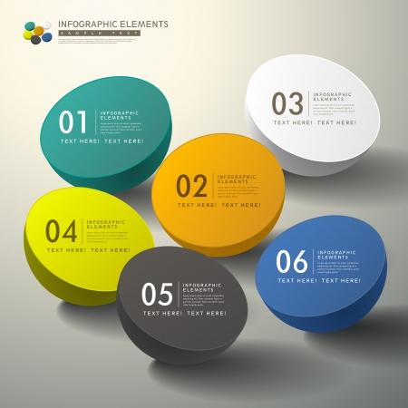coiffer: vecteur éléments infographiques 3d abstrait