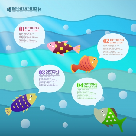 version: modern vector abstract ocean infographic elements design