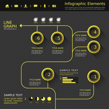 Infographic flowchart template