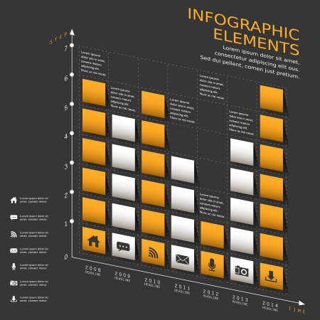 histogram: modern vector abstract chart infographic elements