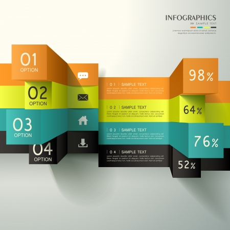 histogram: modern vector abstract 3d cube infographic elements