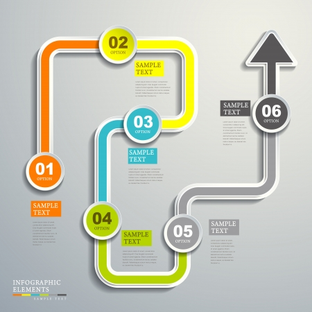 흐름: 현대 벡터 추상 흐름 차트 인포 그래픽 요소