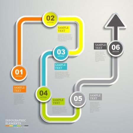 vector moderno flujo abstracto elementos infográficos gráfico