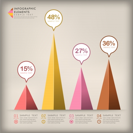 3d triangle: modern vector abstract 3d triangle infographic elements