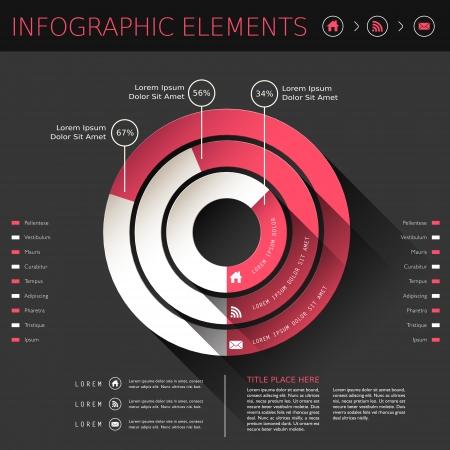 grafica de pastel: vector moderno abstracto elementos circulares diagrama infographic