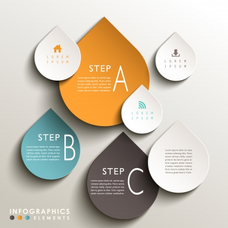 vector abstract 3d drop tag infographic elements Vector