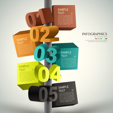 advertising signs: modern vector abstract 3d cube infographic elements