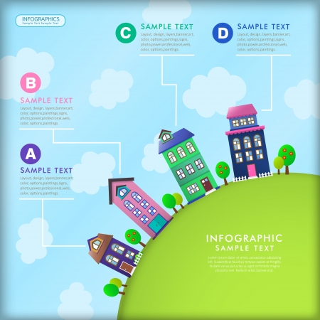 vector illustration house abstract infographic elements Vector
