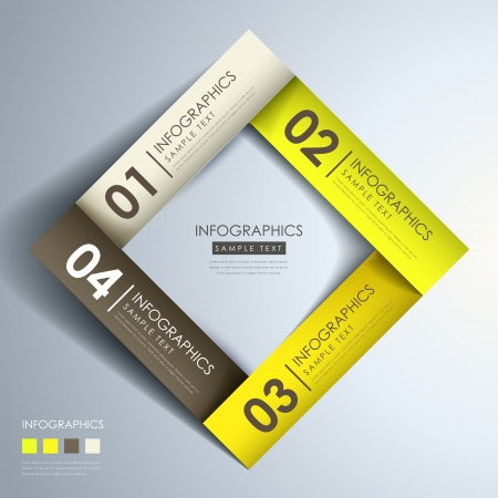 origami banner: realistic vector abstract 3d paper infographic elements