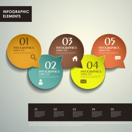 version: realistic vector abstract 3d tag infographic elements