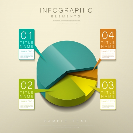 realistic vector abstract 3d pie chart infographic elements 일러스트